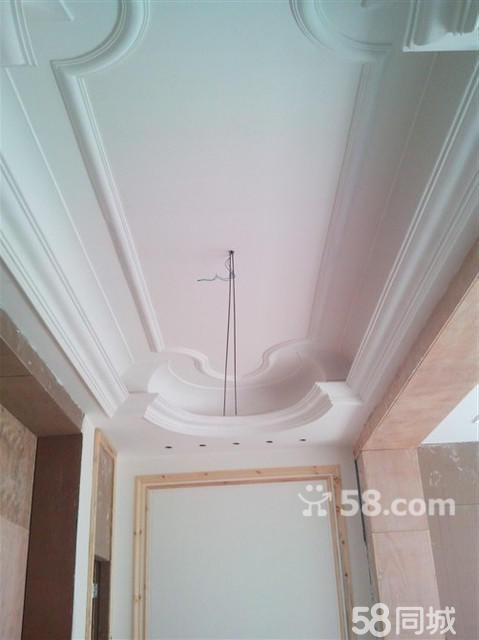 施工吊顶背景墙装饰石膏阳角线效果图欧式石膏线条   图片