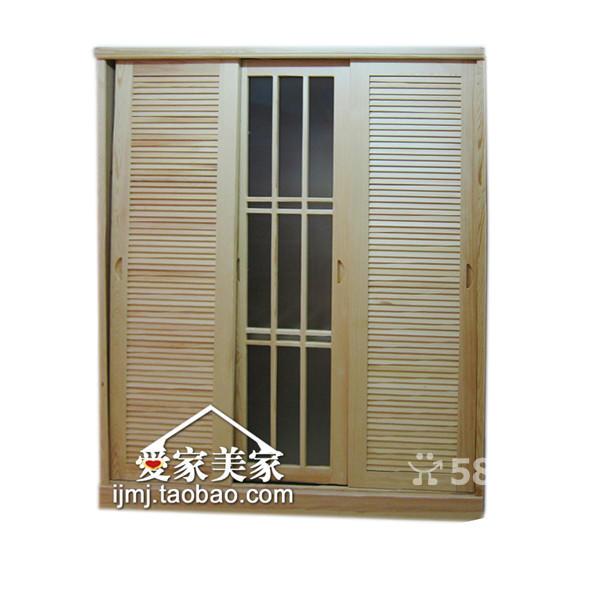 韩式内藏镜子门,四门推拉门衣柜