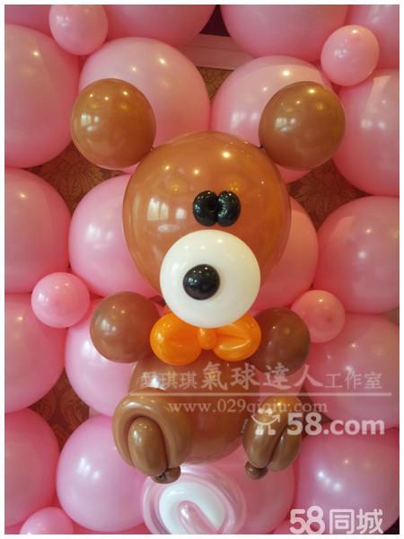 可爱小熊气球造型