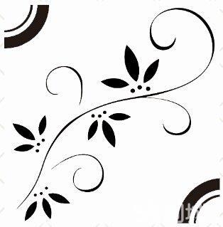 白色卡通橄榄枝