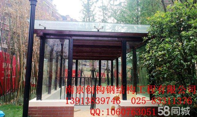 南京钢结构玻璃雨棚