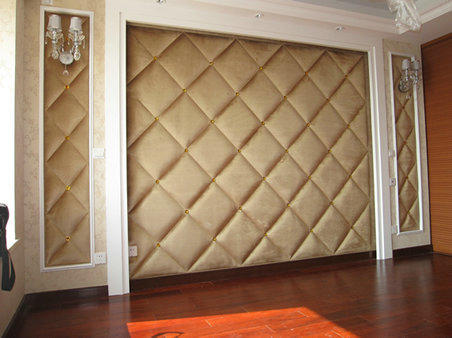木工做床头软包效果图