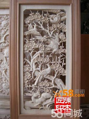 木雕花鸟窗—58商家店铺